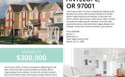 000 Singular Real Estate Marketing Flyer Template Free Highest Quality