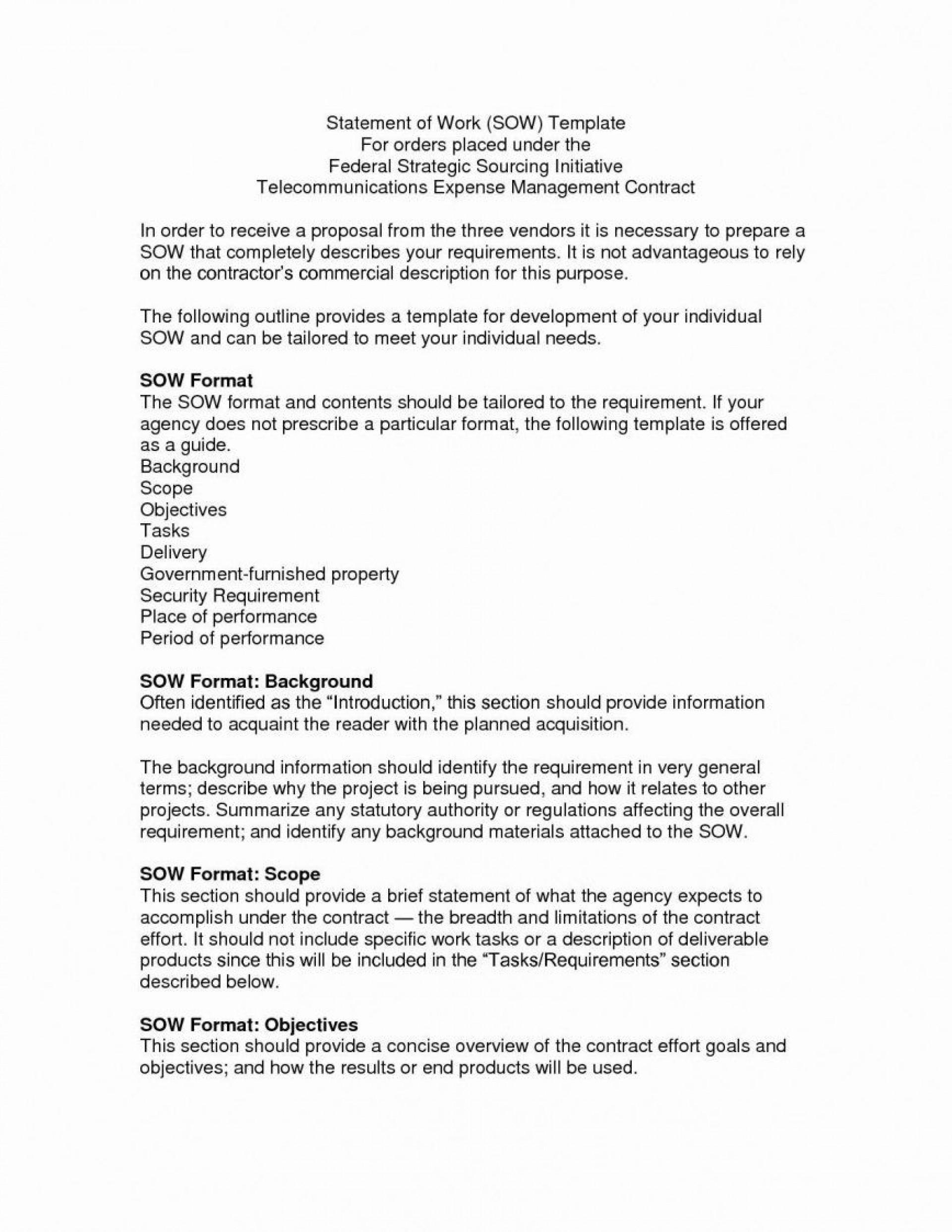 000 Singular Scope Of Work Template Microsoft Word Idea 1920