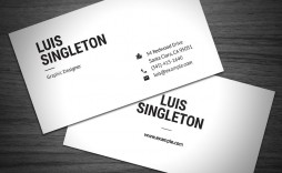 000 Singular Simple Busines Card Template Photoshop High Definition