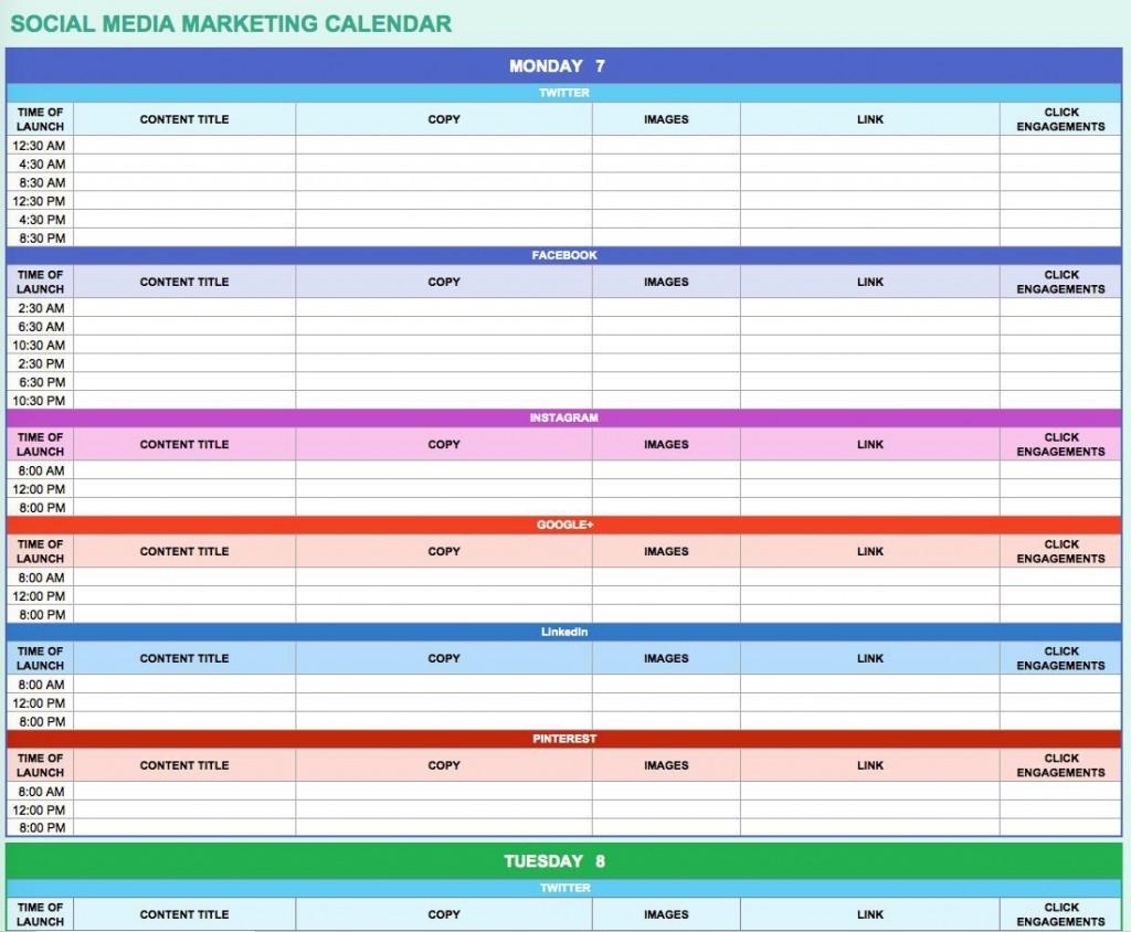 000 Singular Social Media Marketing Plan Template 2018 Sample Large