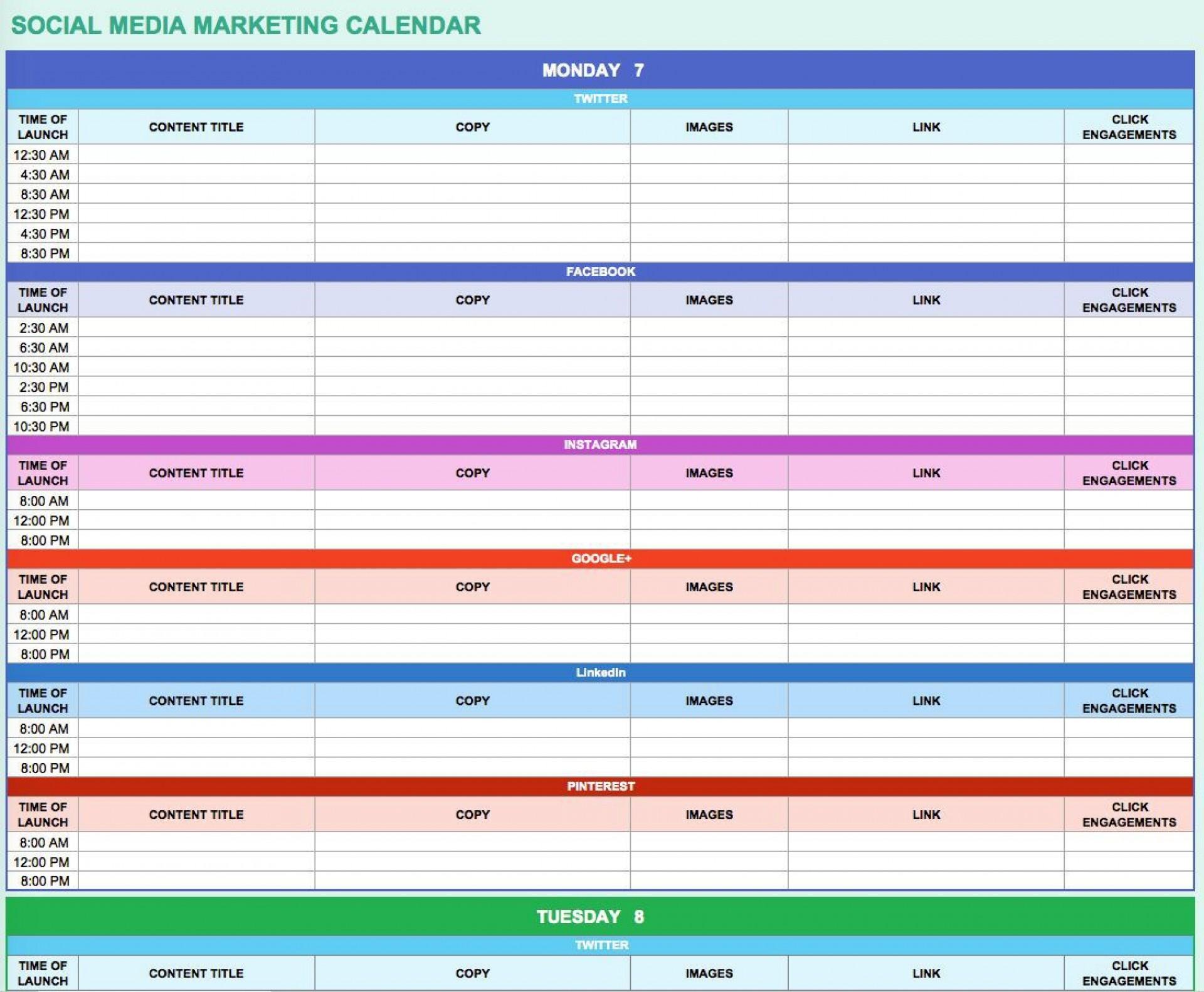 000 Singular Social Media Marketing Plan Template 2018 Sample 1920