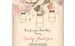 000 Singular Wedding Shower Invitation Template Sample  Templates Bridal Pinterest Microsoft Word Free For
