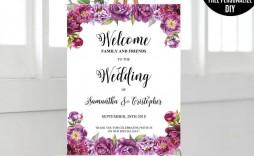 000 Singular Wedding Welcome Sign Template Free Sample