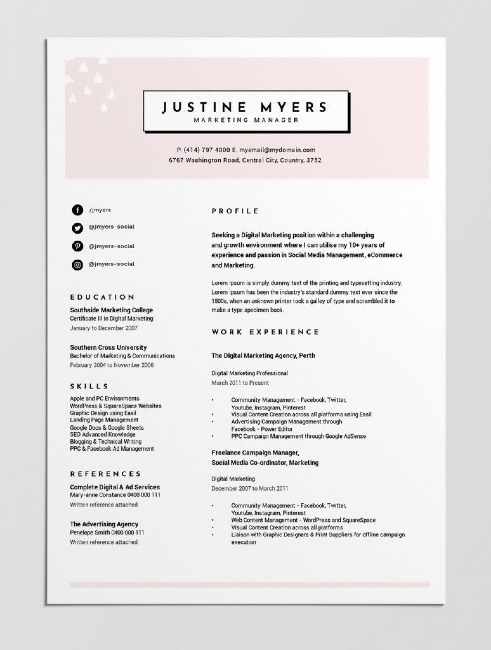 000 Staggering Best Resume Template Free Highest Quality  2019 2018 Top Download1920