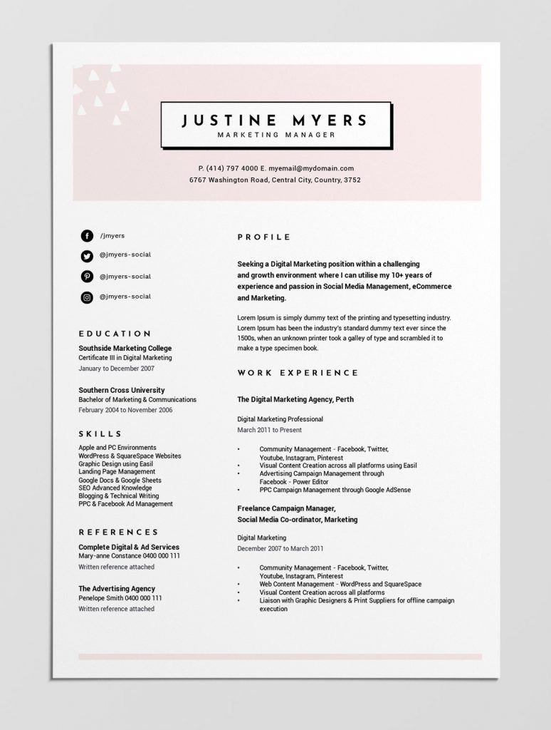 000 Staggering Best Resume Template Free Highest Quality  2019 2018 Top DownloadFull