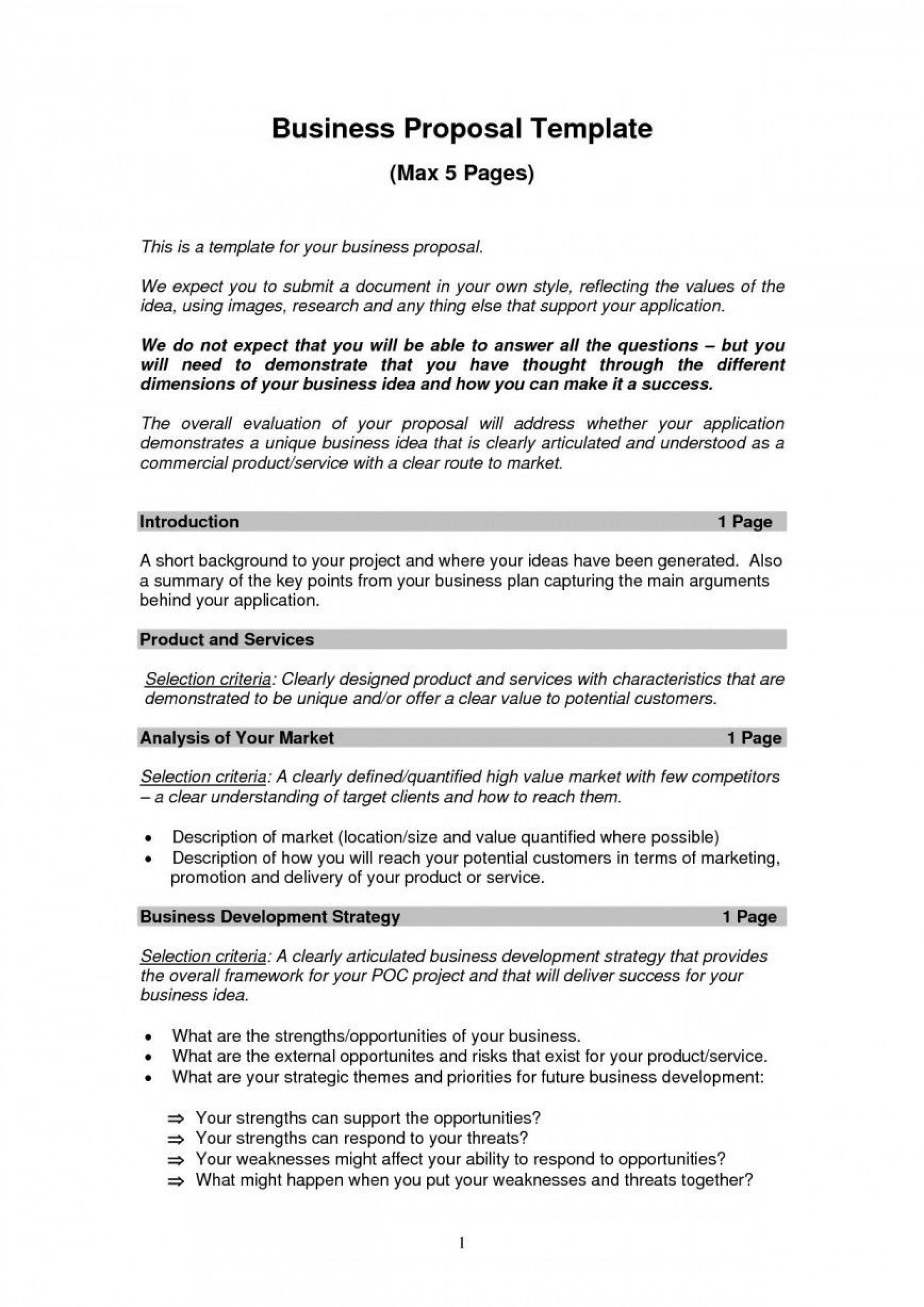 Business Proposal Template Pdf Addictionary