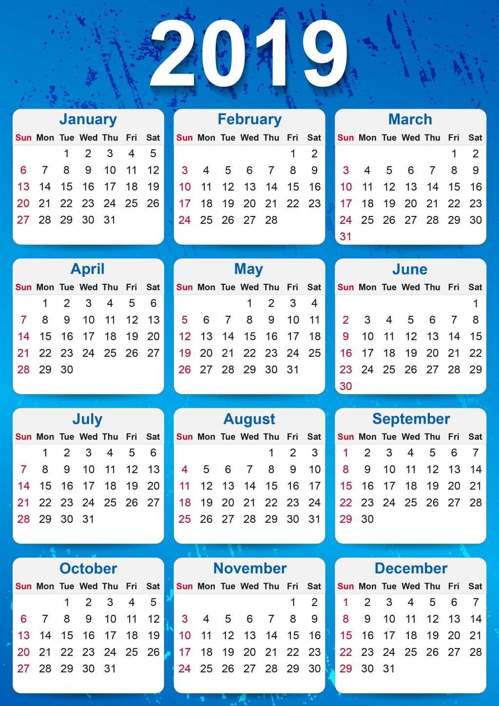 000 Staggering Calendar Template Free Download Concept  2020 Powerpoint Table Design 2019 MalaysiaLarge