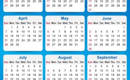 000 Staggering Calendar Template Free Download Concept  2020 Powerpoint Table Design 2019 Malaysia