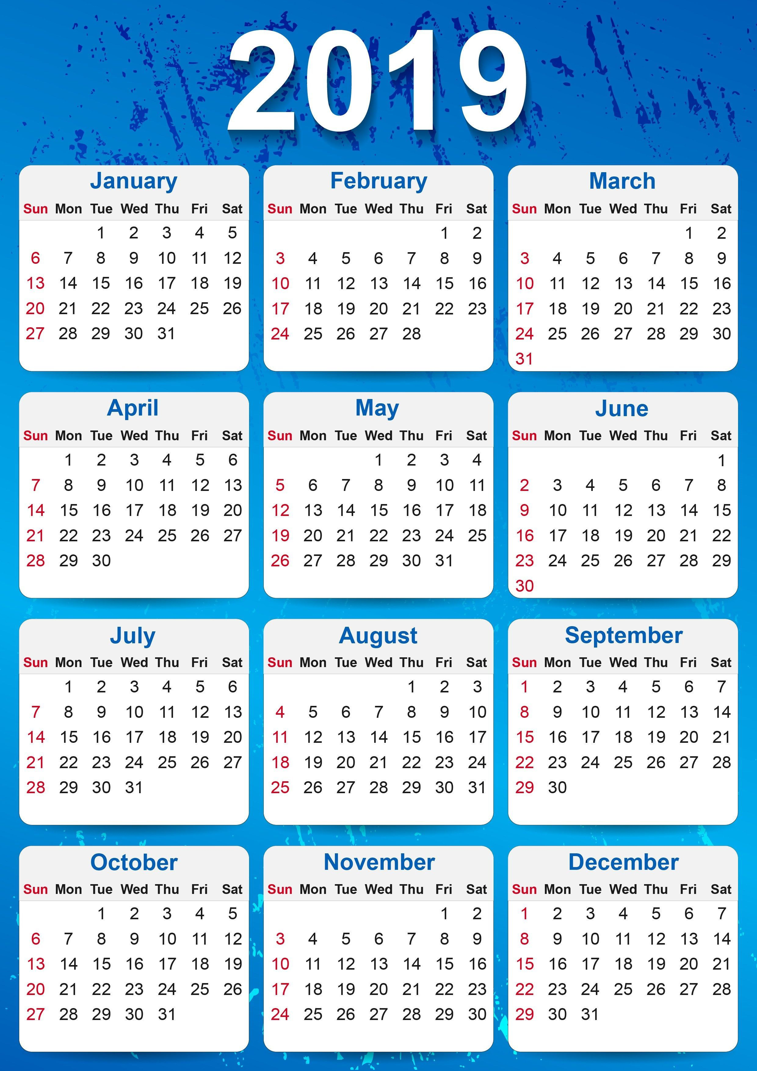 000 Staggering Calendar Template Free Download Concept  2020 Powerpoint Table Design 2019 MalaysiaFull