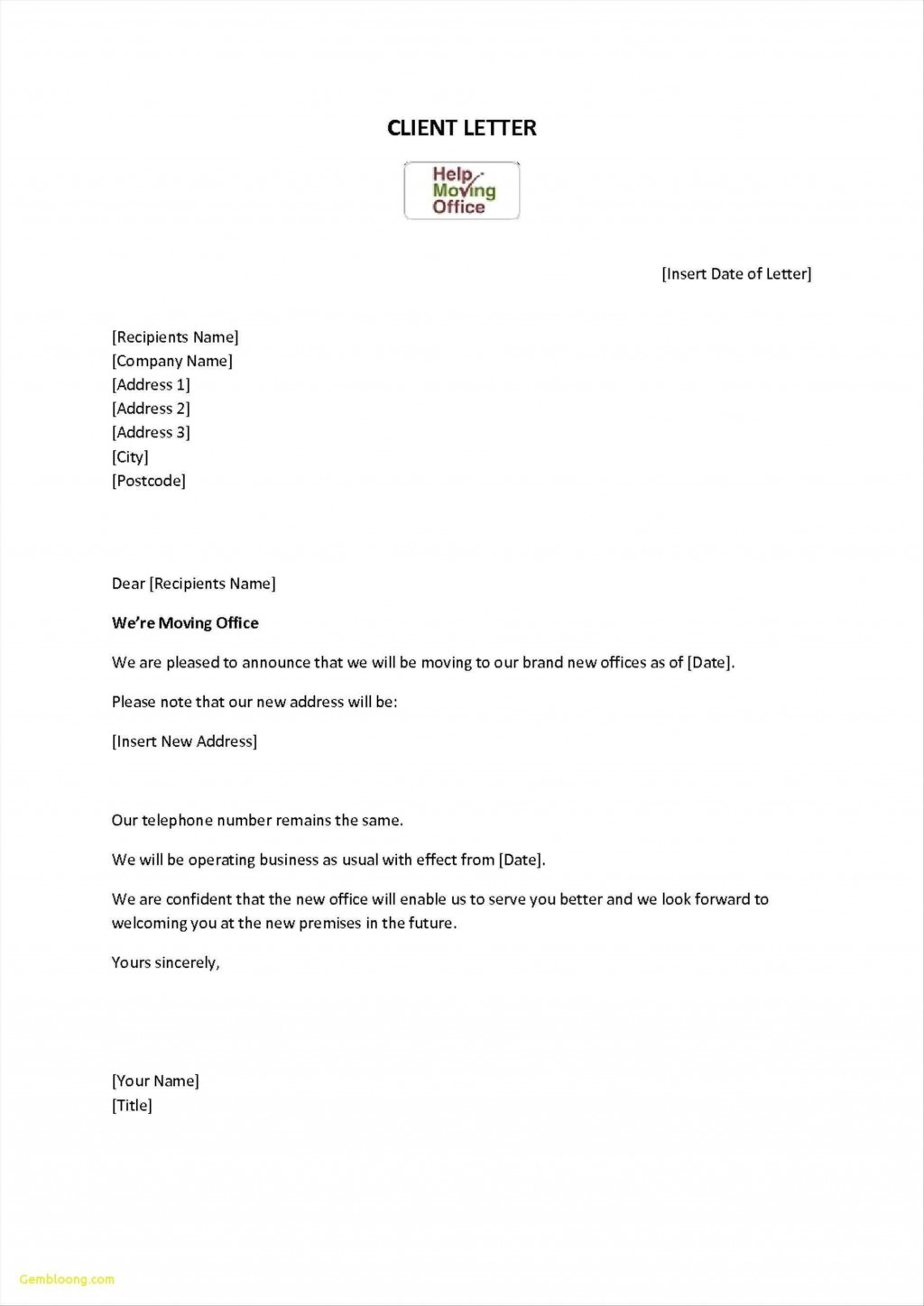 000 Staggering Change Of Addres Letter Template Concept  Templates For Busines FreeLarge