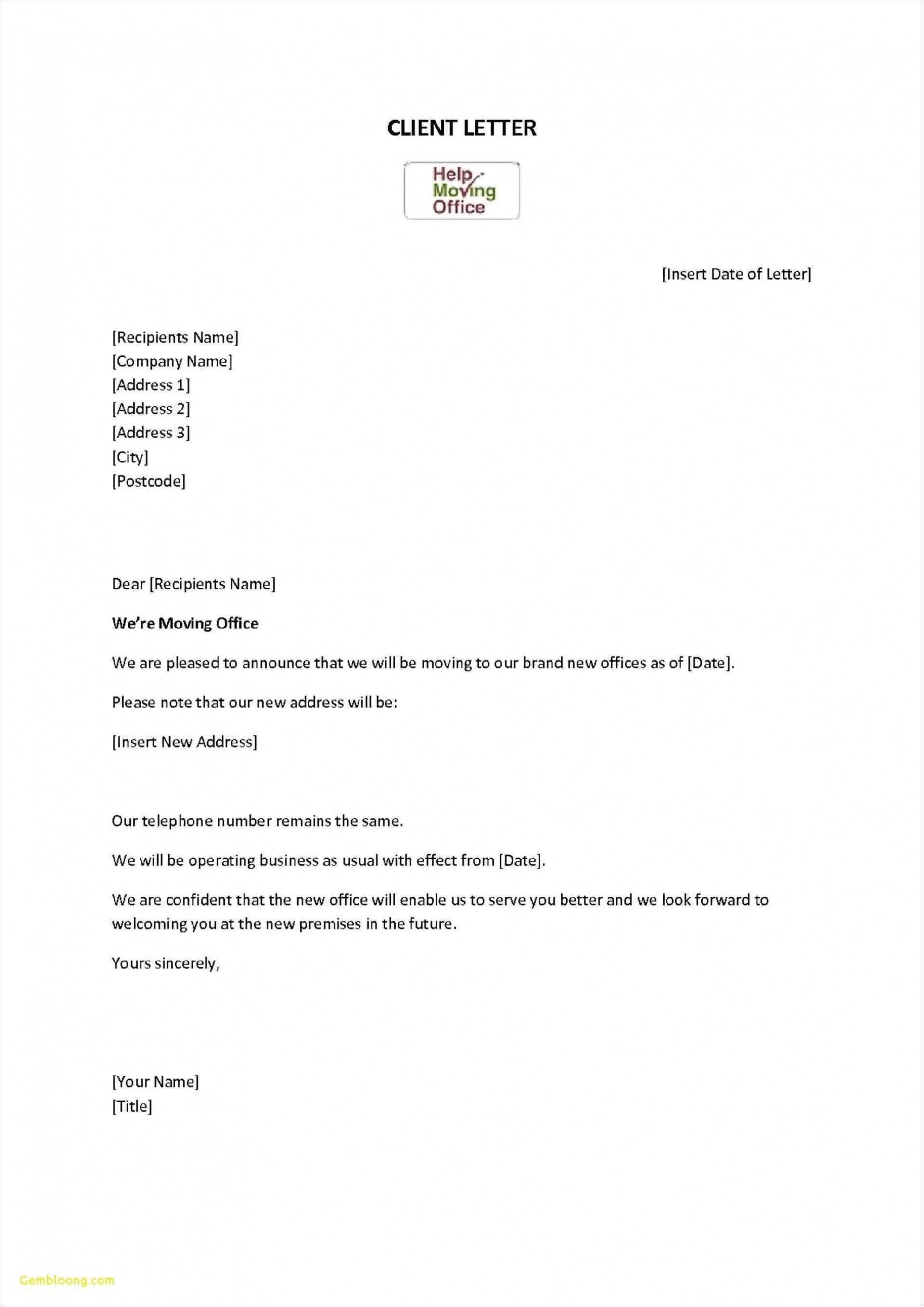 000 Staggering Change Of Addres Letter Template Concept  Templates For Busines Free1920