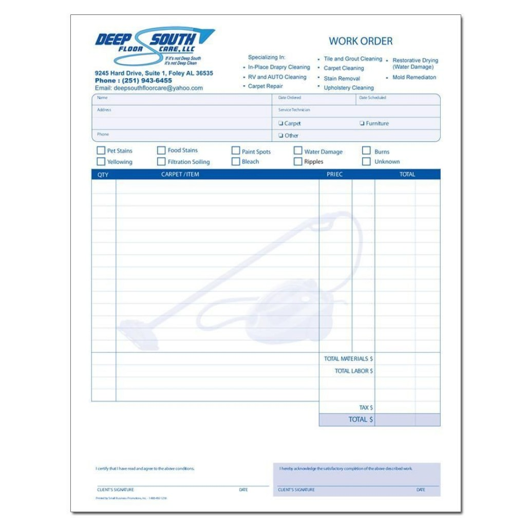 000 Staggering Cleaning Service Invoice Template Highest Clarity  UkLarge