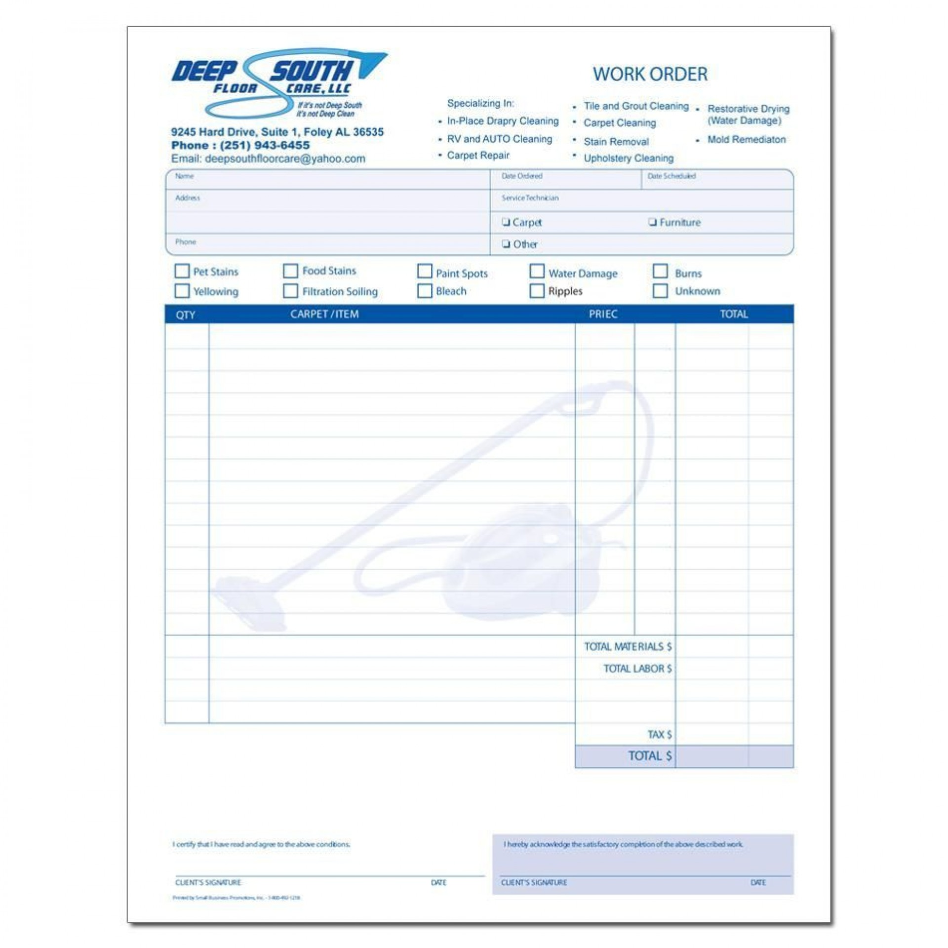 000 Staggering Cleaning Service Invoice Template Highest Clarity  Uk1920