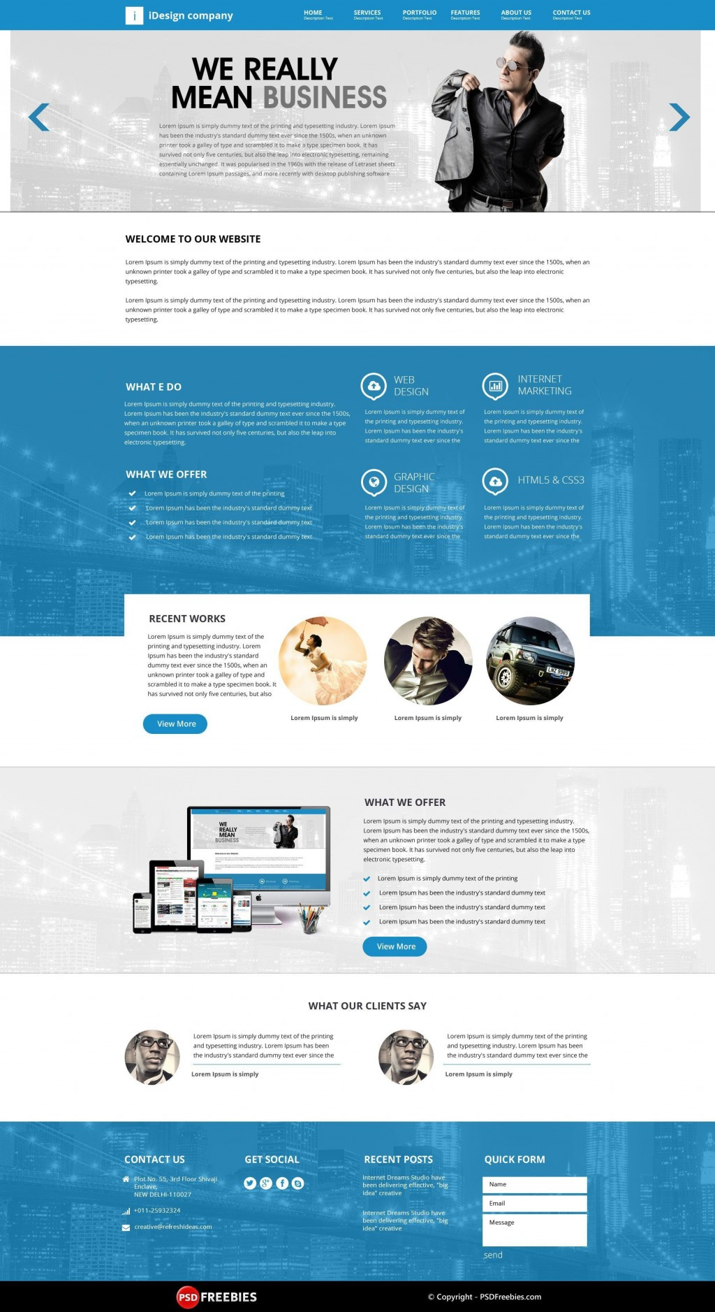 000 Staggering Creative One Page Website Template Free Download Image Large