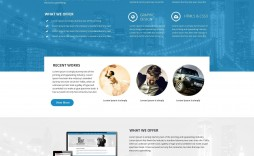 000 Staggering Creative One Page Website Template Free Download Image