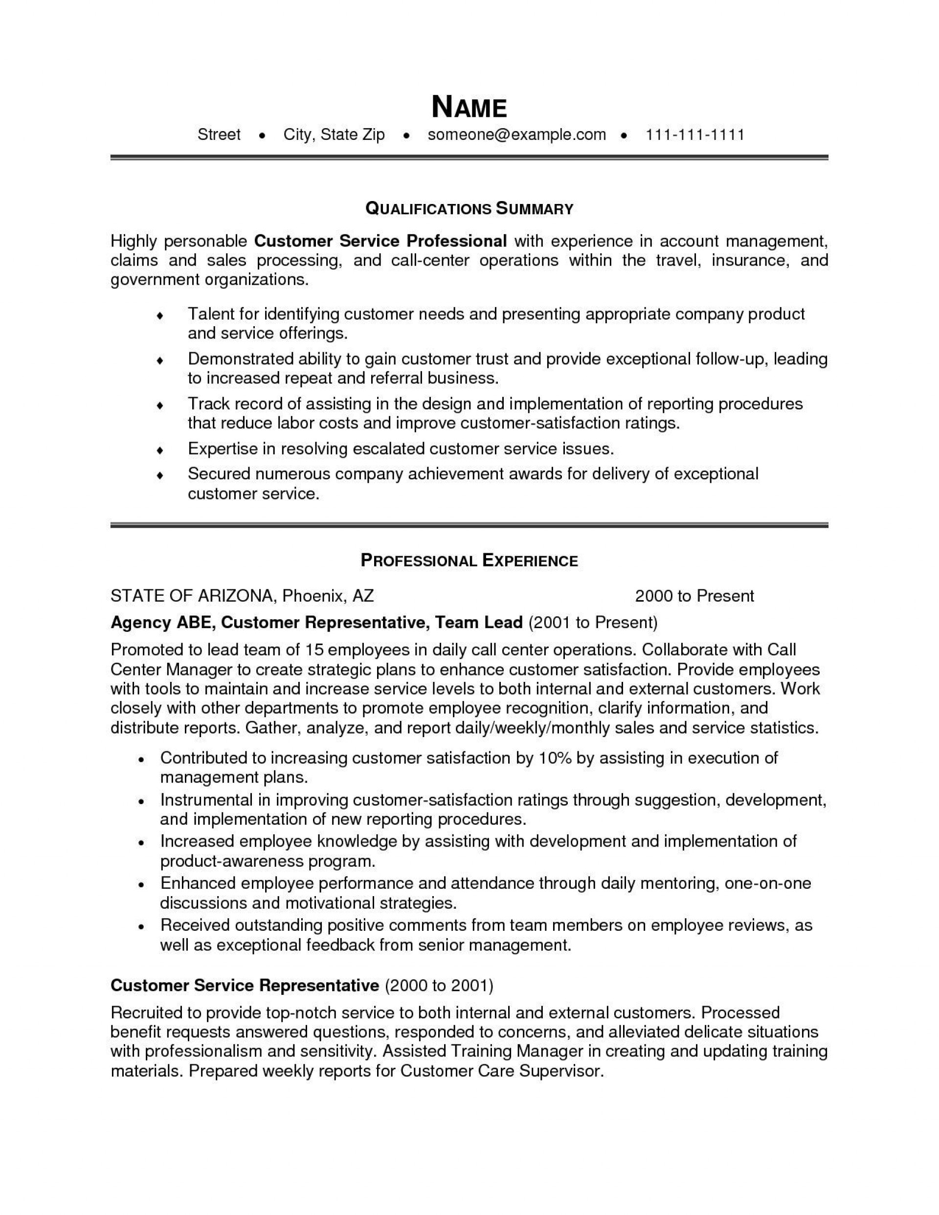 000 Staggering Customer Service Resume Template Image  Templates 2018 Word Cv1920