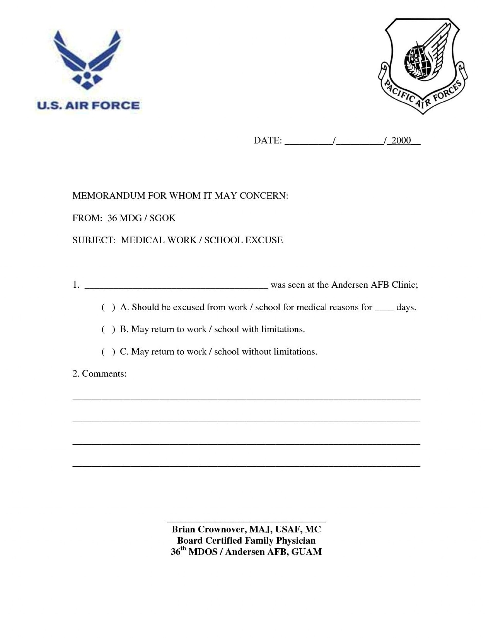 000 Staggering Doctor Note For Work Template Example  Doctor' Missing Excuse Pdf1920