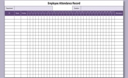 000 Staggering Employee Attendance Record Template Excel Picture  Free Download With Time
