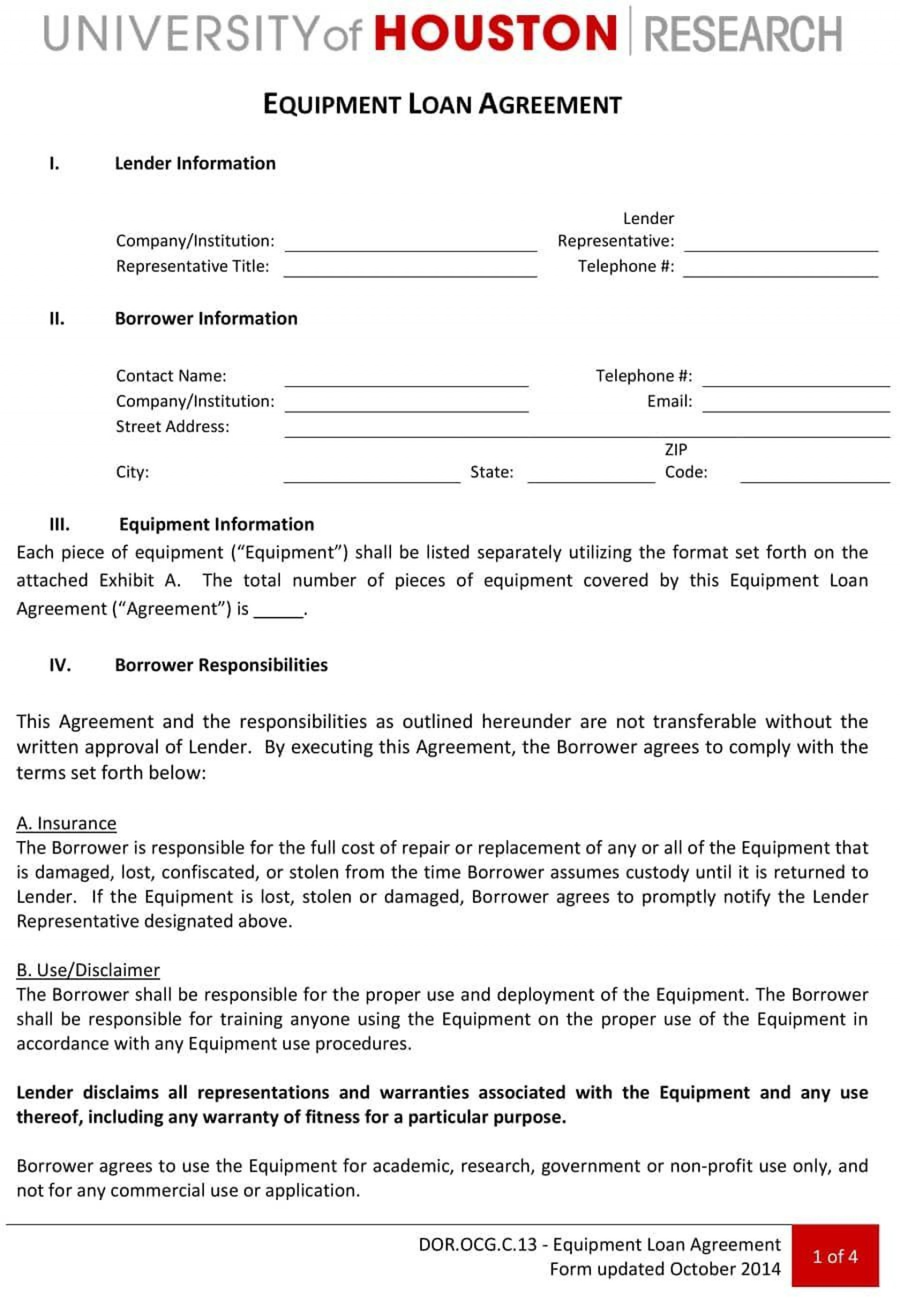 000 Staggering Equipment Loan Agreement Template Highest Quality  Simple Uk Borrowing Free1920