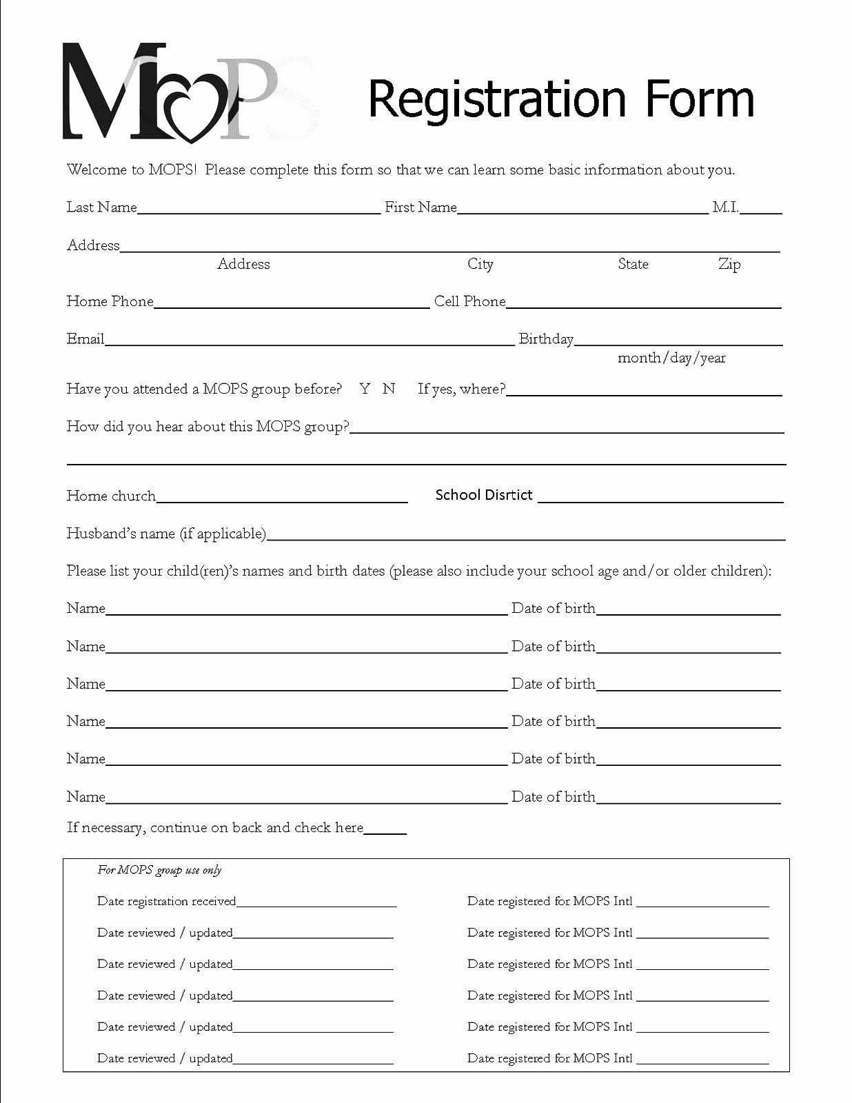 000 Staggering Event Registration Form Template Design  Word Excel MicrosoftFull