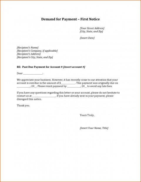 000 Staggering Final Payment Demand Letter Template Idea  For Uk480