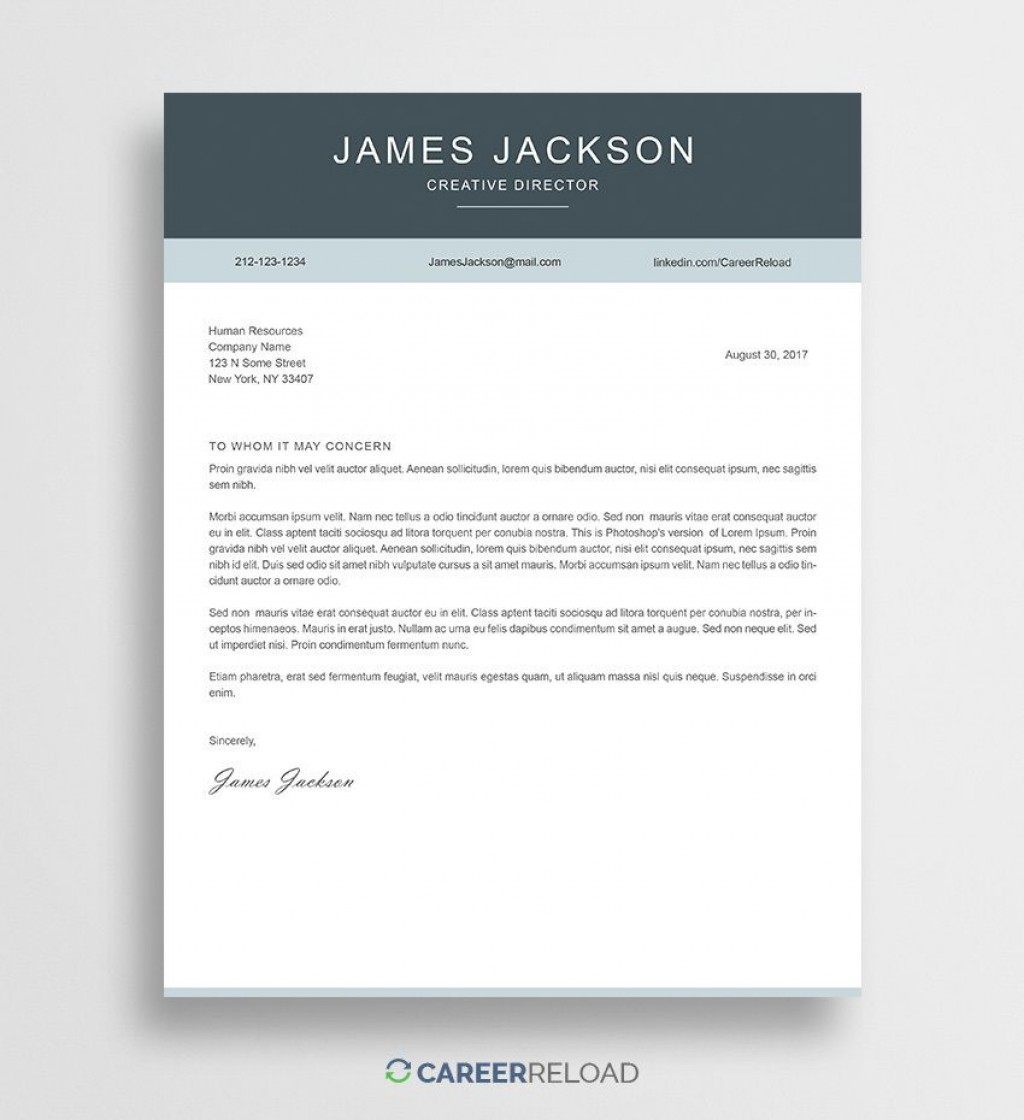 000 Staggering Free Cover Letter Template Download Sample  Word Doc ModernLarge