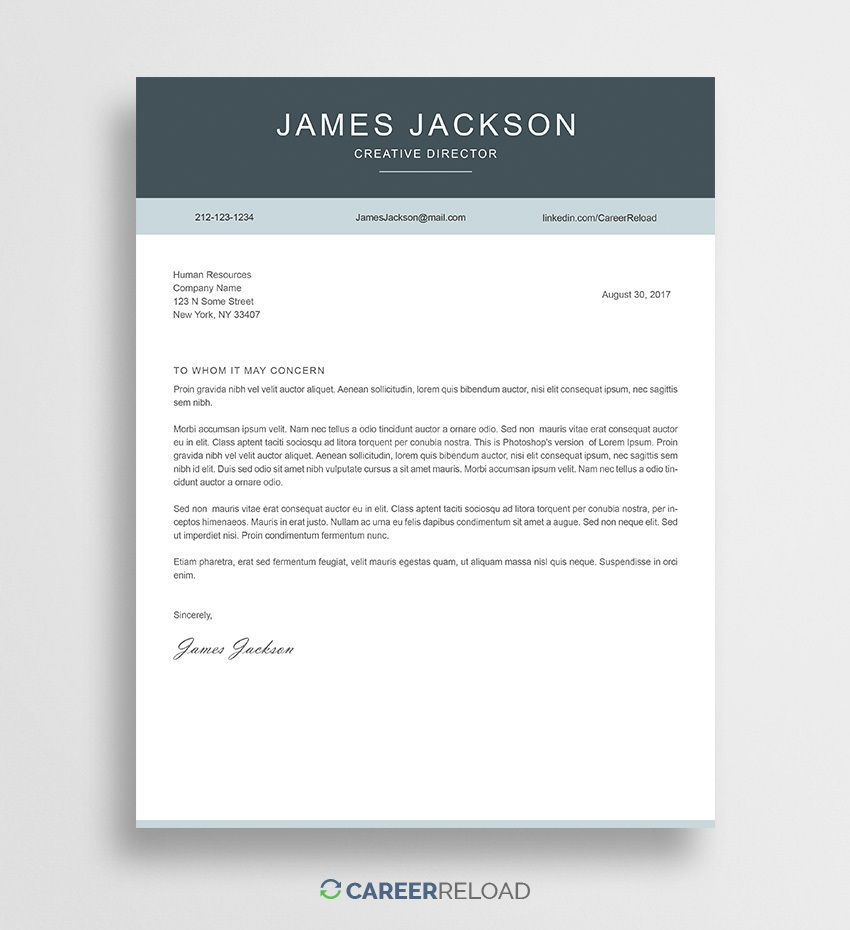 000 Staggering Free Cover Letter Template Download Sample  Word Doc ModernFull