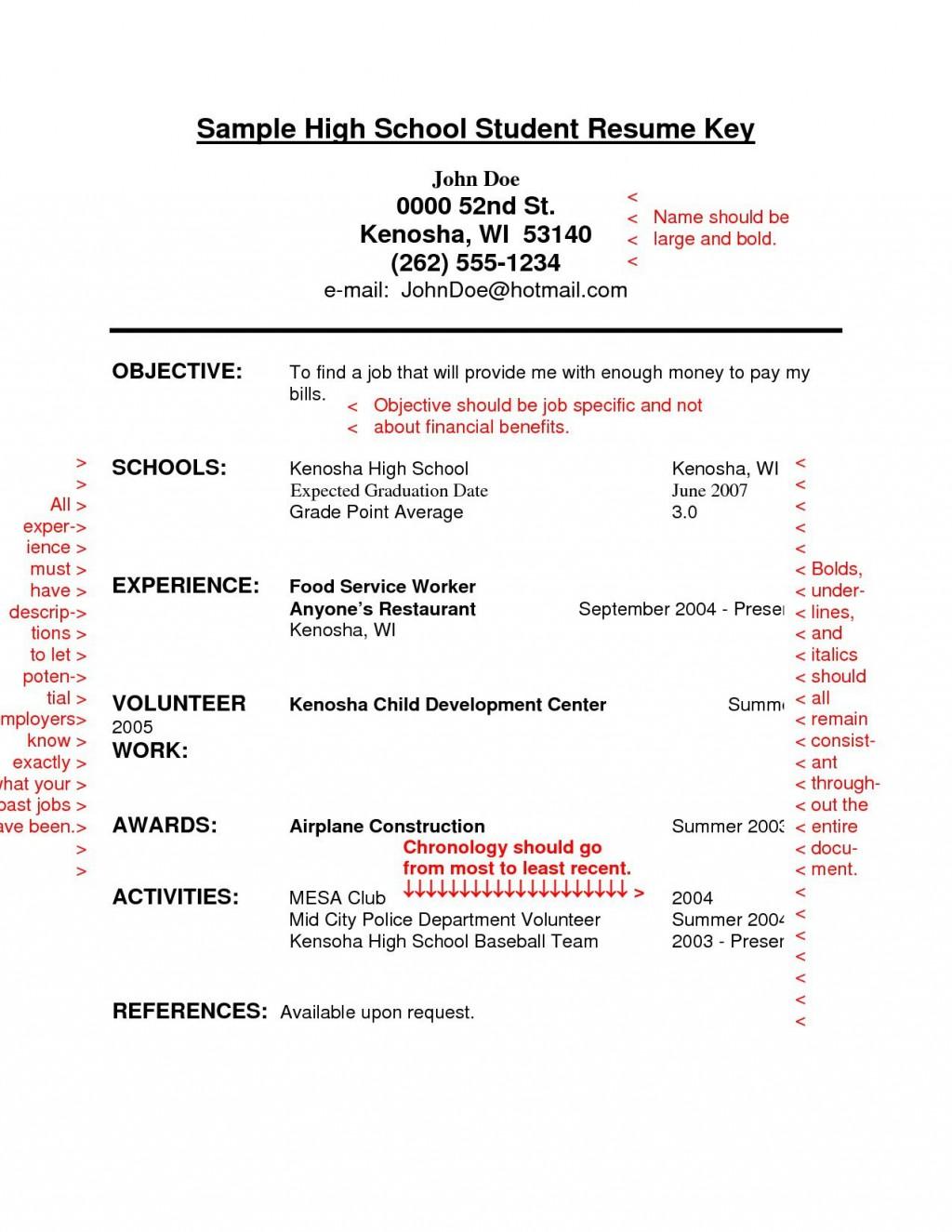 Free Student Resume Templates Addictionary