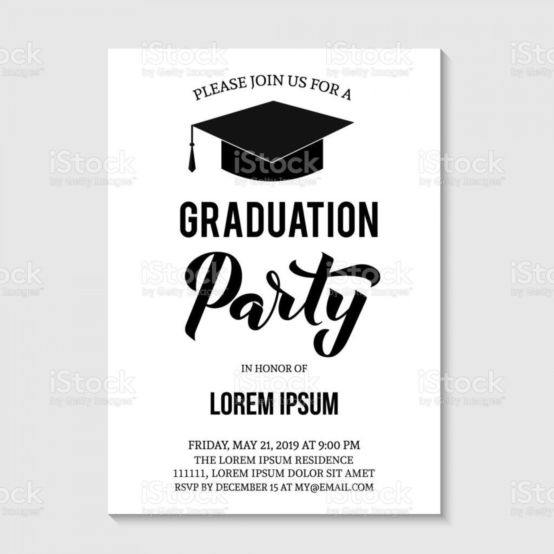 000 Staggering Graduation Party Invitation Template Inspiration  Templates 4 Per Page Free Reception1920