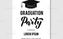 000 Staggering Graduation Party Invitation Template Inspiration  Templates 4 Per Page Free Reception