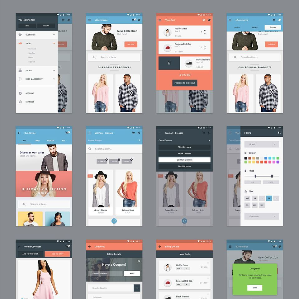 000 Staggering Mobile App Design Template Image  Templates Ui Free Online Android PsdFull