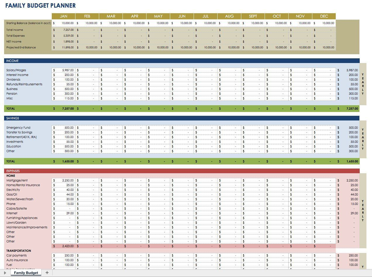 000 Staggering Monthly Budget Template Excel 2007 Highest Clarity  PersonalFull