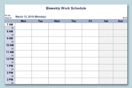 000 Staggering Monthly Work Calendar Template Excel Example  Plan Schedule Free Download 2019