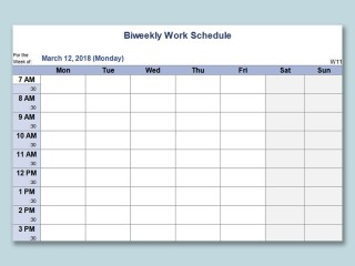 000 Staggering Monthly Work Calendar Template Excel Example  Plan Schedule Free Download 2019320