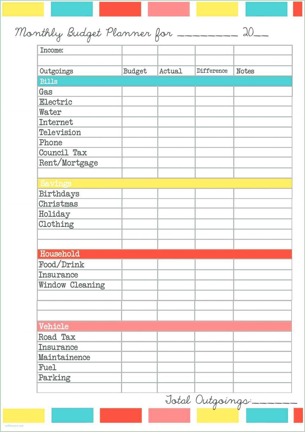 000 Staggering Personal Expense Tracker Spreadsheet Template Sample Full
