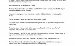000 Staggering Rent To Own Contract Template Pennsylvania Sample