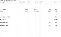 000 Staggering Sample Tax Invoice Excel Download Image