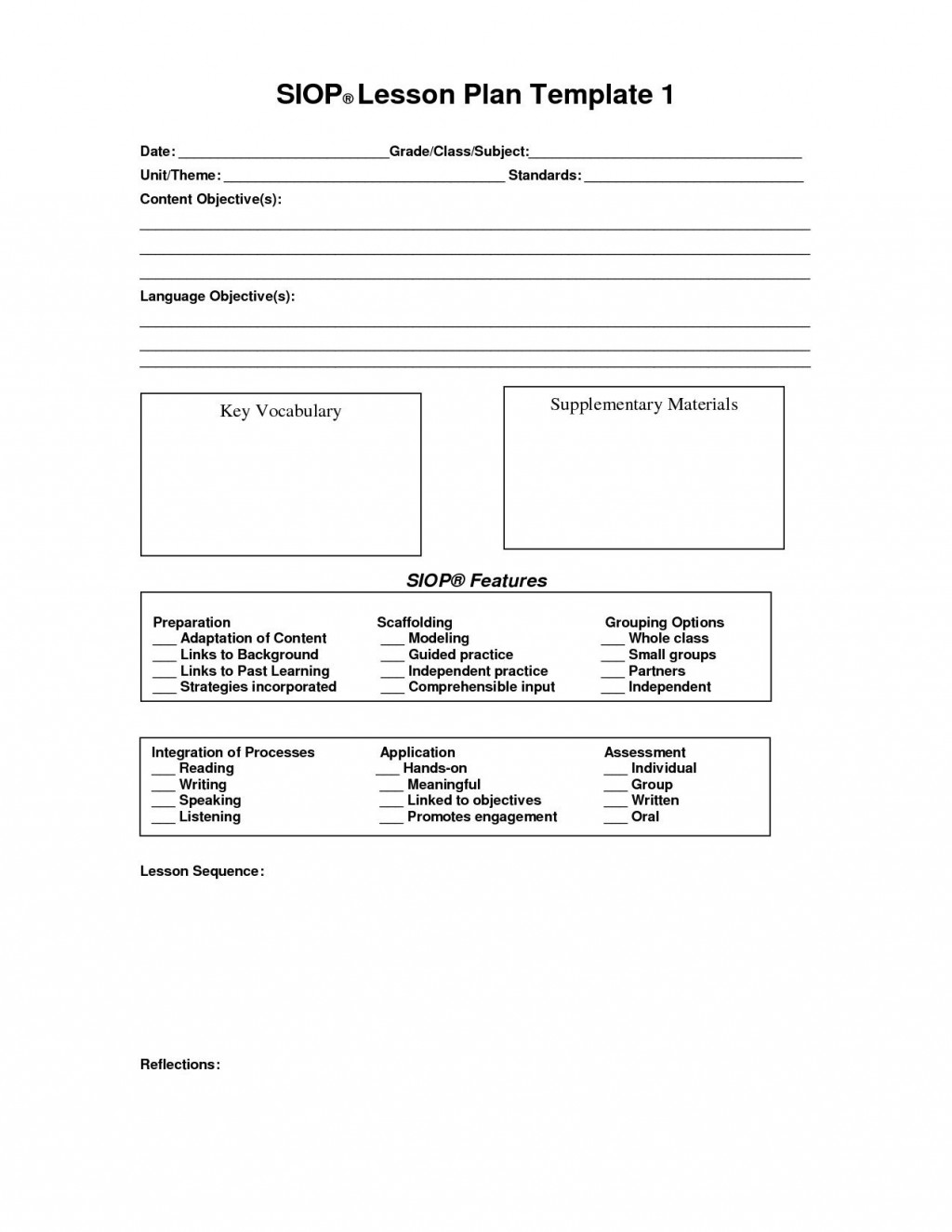 000 Staggering Siop Lesson Plan Template 1 Image  Example First Grade Word Document 1stLarge