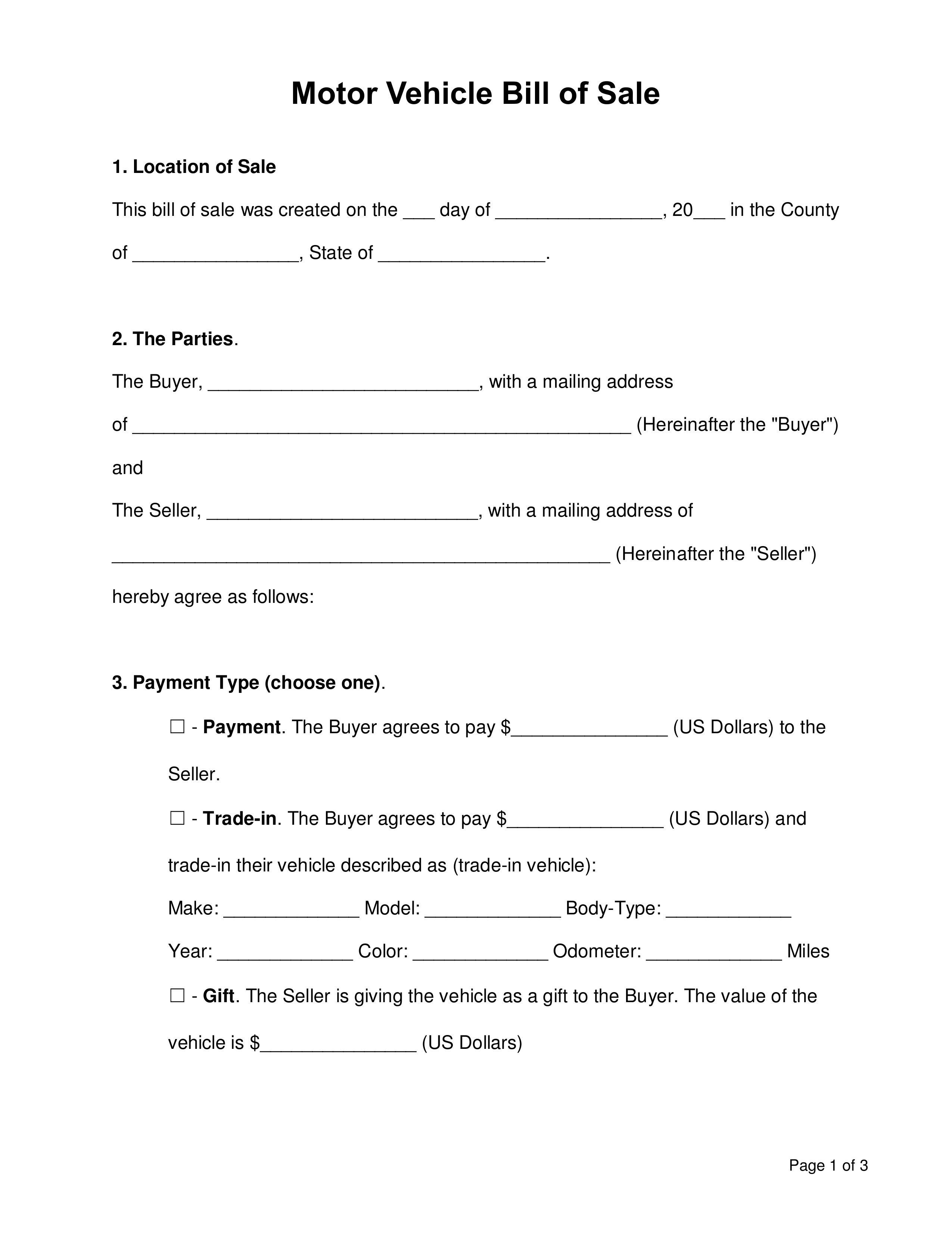 000 Staggering Template For Bill Of Sale Photo  Example Trailer Free Mobile Home Used CarFull