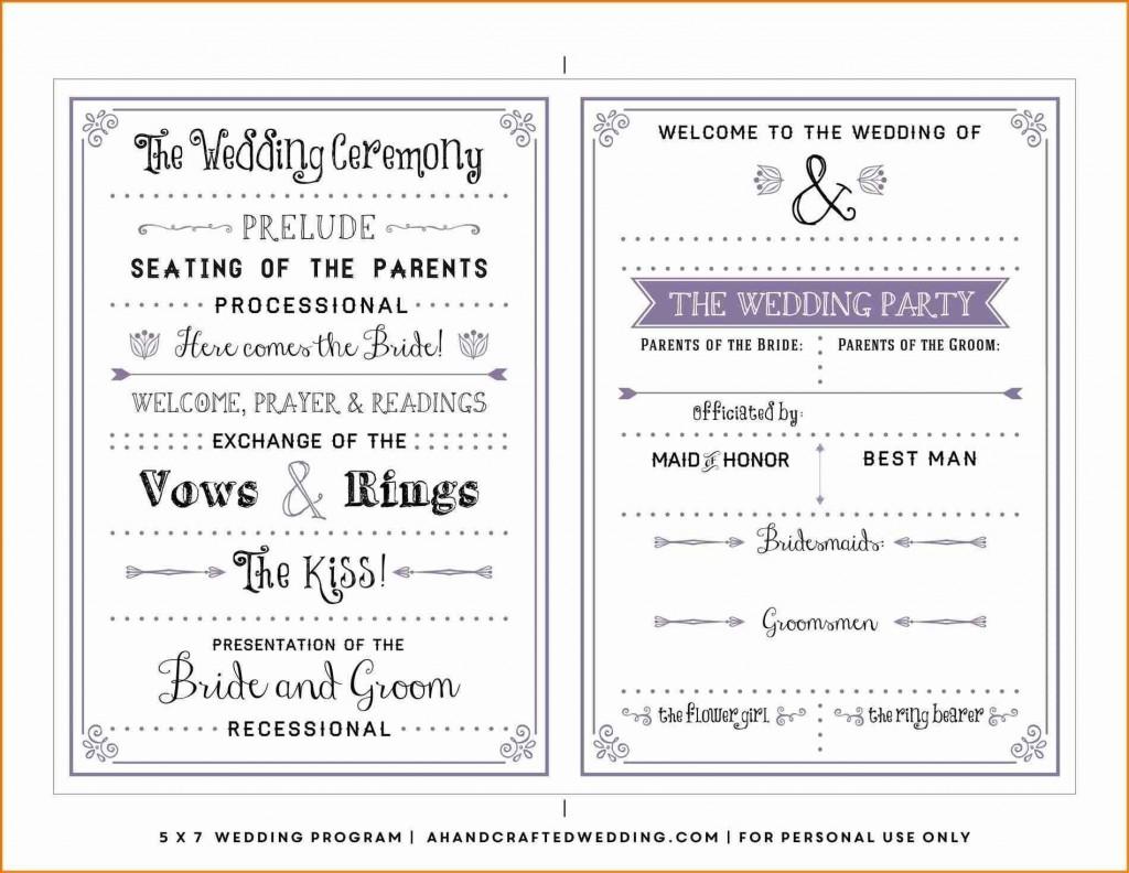 000 Staggering Wedding Program Template Word Design  Catholic Mas Sample Wording Idea Example SimpleLarge