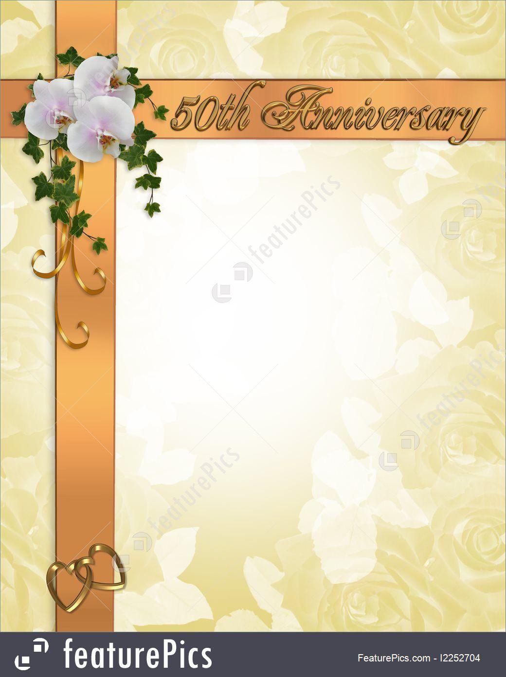 000 Stirring 50th Anniversary Invitation Card Template Design  Templates FreeFull