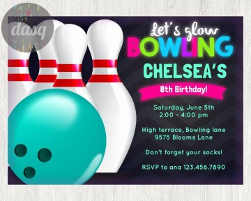 000 Stirring Bowling Party Invite Printable Free High Def  Birthday Invitation360
