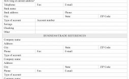 000 Stirring Busines Credit Application Template Word Concept  Free South Africa Form