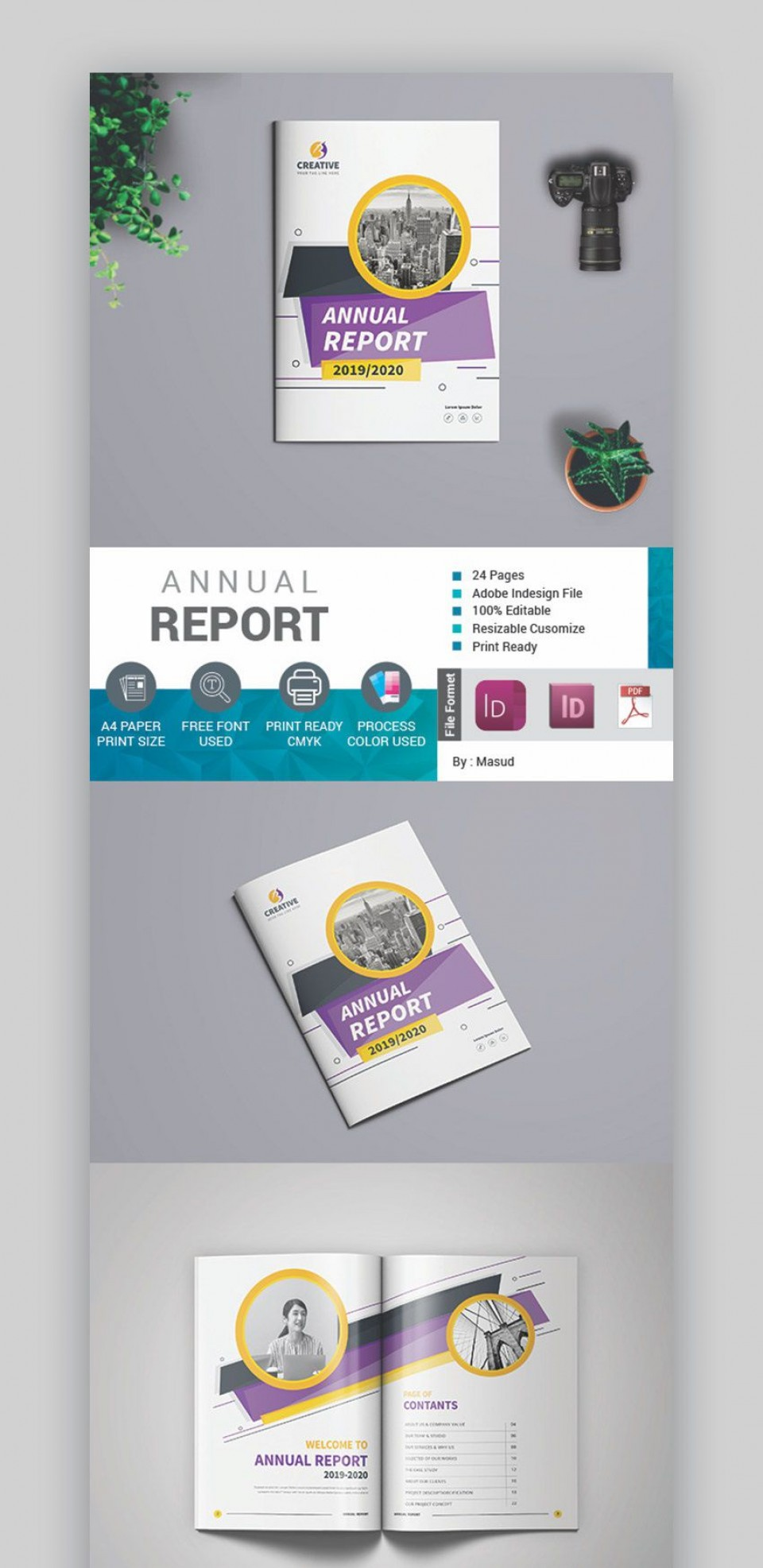 000 Stirring Free Annual Report Template Indesign Sample  Adobe Non Profit960