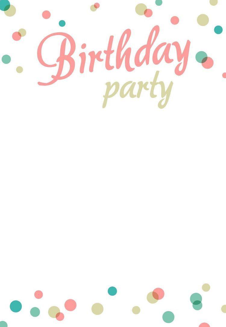 000 Stirring Free Birthday Card Invitation Template Printable Image Full