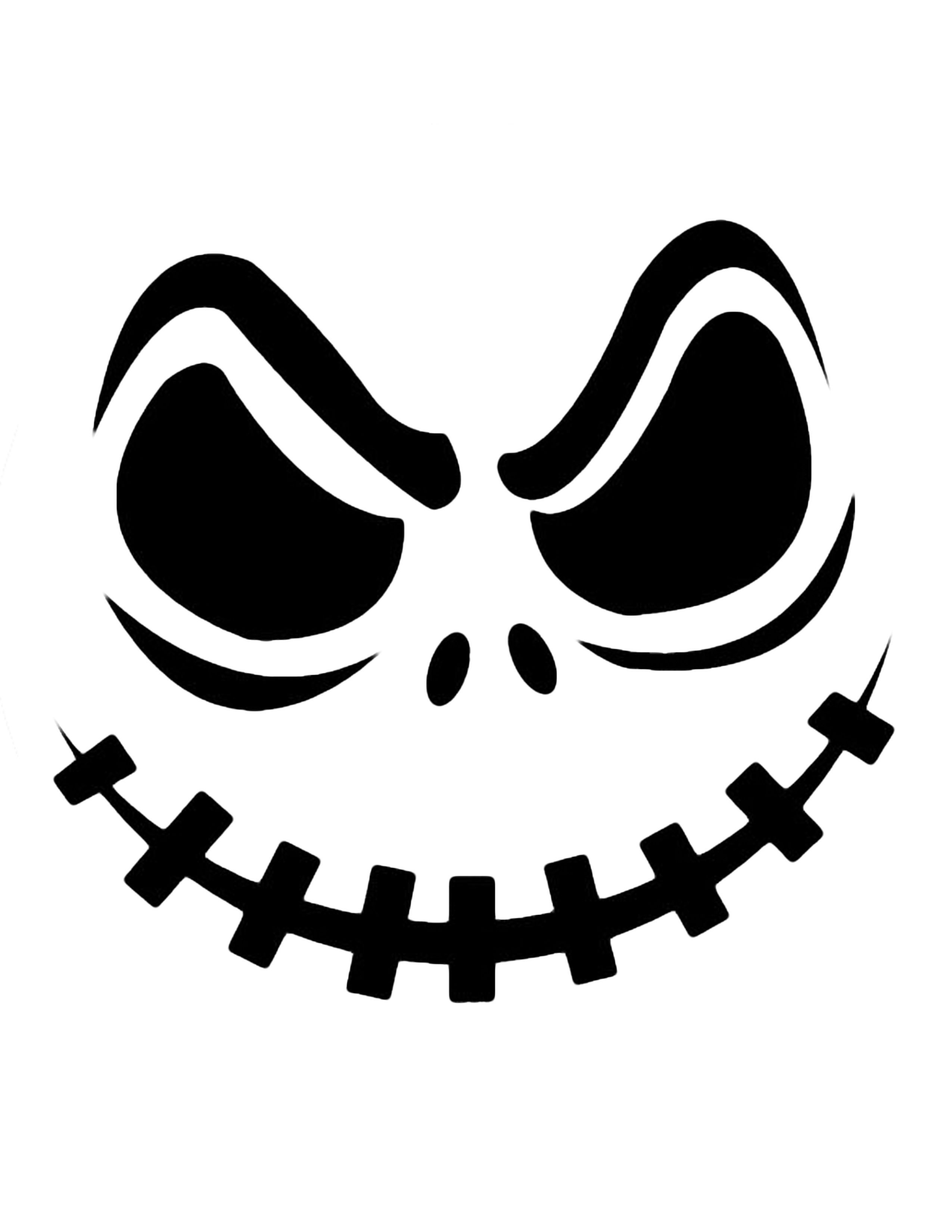 000 Stirring Free Pumpkin Template Printable Image  Easy Carving Scary StencilFull