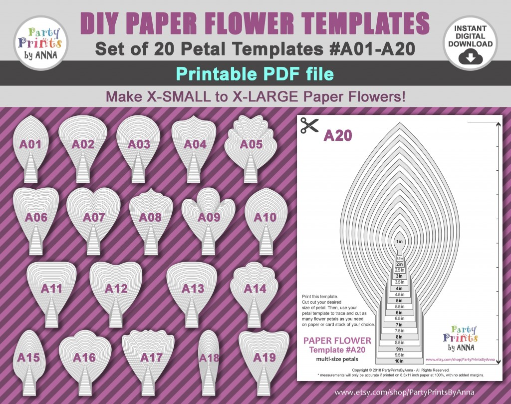 000 Stirring Free Small Paper Flower Petal Template Example  TemplatesLarge