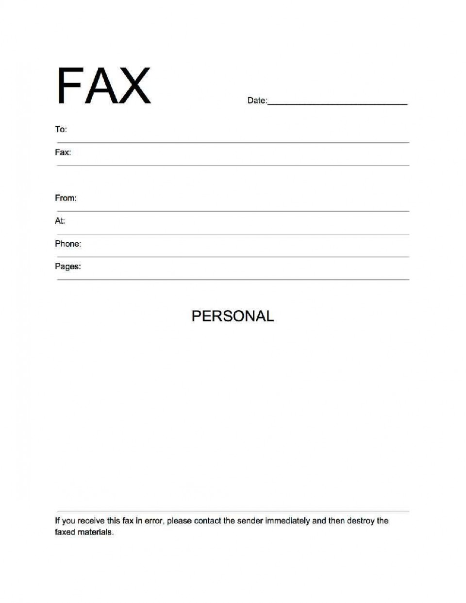 000 Stirring General Fax Cover Letter Template Sample  Sheet Word Confidential Example960