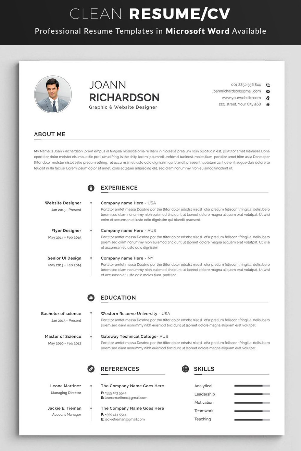 000 Stirring Professional Resume Template Word Photo  Microsoft Download Free 2010 2019Large
