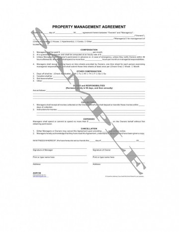 000 Stirring Property Management Contract Form Concept  Agreement Template Ontario360